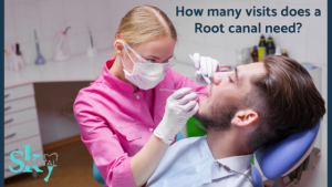 How many visits does a root canal need?