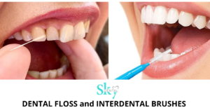 How to use Dental floss and Interdental brushes